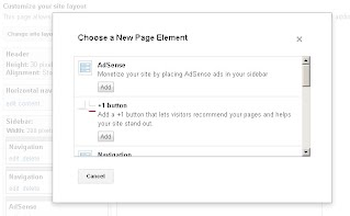 Insert Google +1 into the Google Sites Sidebar